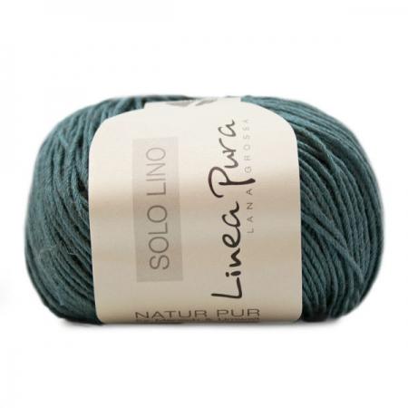 Пряжа для вязания и рукоделия Solo Lino (Lana Grossa) цвет 28, 120 м