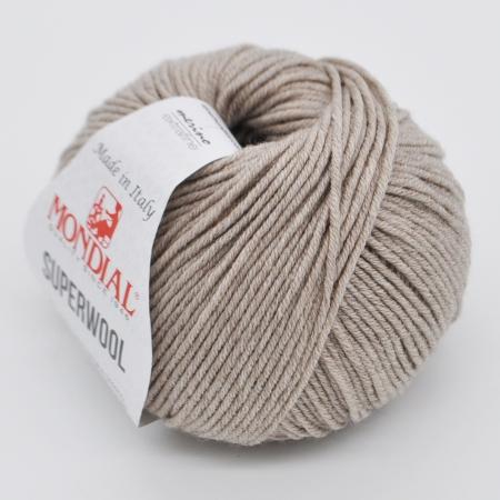 Пряжа для вязания и рукоделия Superwool (Mondial) цвет 0400, 125 м