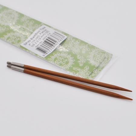 Спицы съемные бамбуковые 10 см, 3 мм