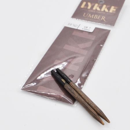Спицы разъемные Lykke, цвет Umber, 7 см / 4.5 мм (Lykke)