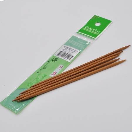 Спицы бамбуковые чулочные (темные), 15 см / 3.75 мм (Chiaogoo)