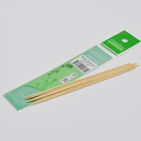 Спицы бамбуковые чулочные (светлые), 15 см / 2 мм (Chiaogoo)