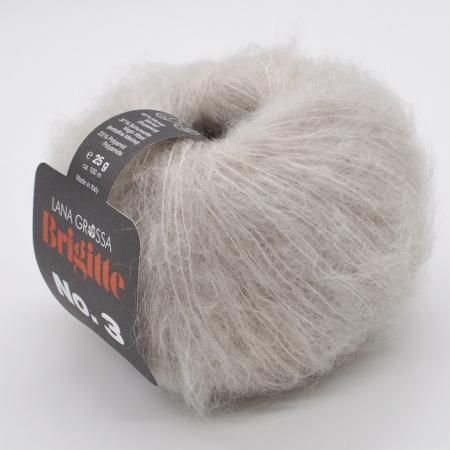 Пряжа для вязания и рукоделия Brigitte 3 (Lana Grossa) цвет 018, 100 м