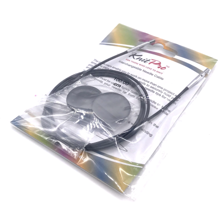 Леска для съемных спиц KnitPro, 76 см, черный
