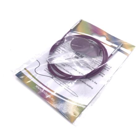 Леска для съемных спиц KnitPro, 76 см, фиолетовая