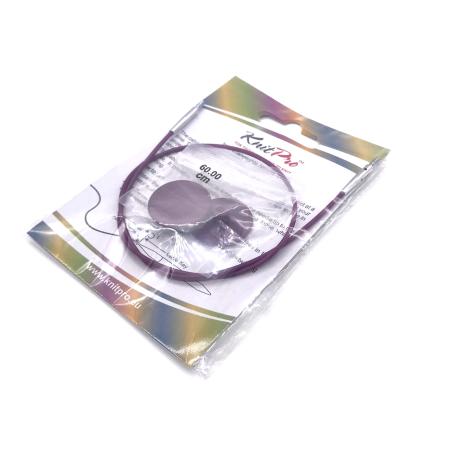 Леска для съемных спиц KnitPro, 35 см, фиолетовая