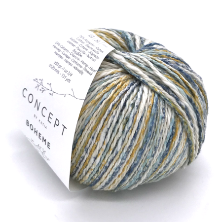 Пряжа для вязания и рукоделия Boheme (Katia) цвет 56, 120 м