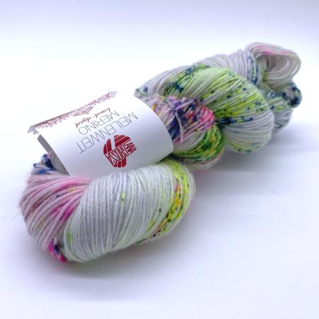 Пряжа для вязания и рукоделия Meilenweit Merino hand-dyed (Lana Grossa) цвет 302, 420 м