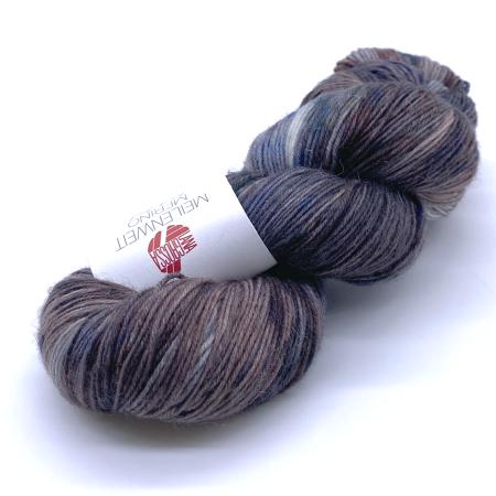 Пряжа для вязания и рукоделия Meilenweit Merino hand-dyed (Lana Grossa) цвет 406, 420 м