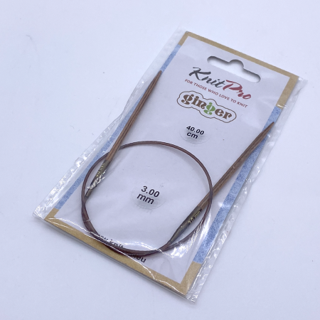 Спицы Knit Pro Ginger круговые 40 см 3 мм