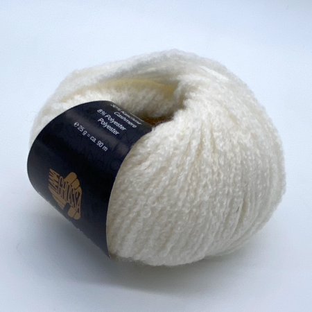 Пряжа для вязания и рукоделия Cashmere Moda (Lana Grossa) цвет 010, 90 м