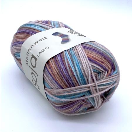 Пряжа для вязания и рукоделия Meilenweit Soja Lago (Lana Grossa) цвет 5168, 420 м