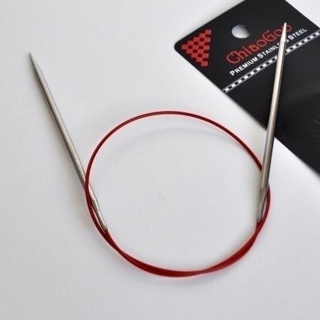 Спицы Premium SS RED, 80 см / 2.25 мм (Chiaogoo)