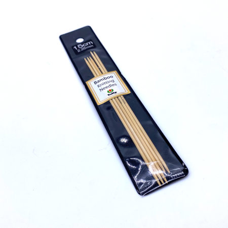 Бамбуковые чулочные спицы Tulip Bamboo, 15 см 2.25 мм