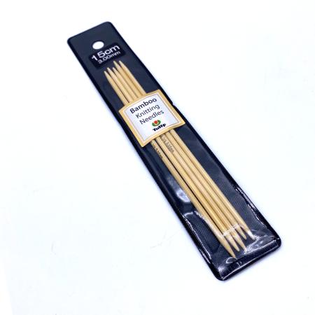 Бамбуковые чулочные спицы Tulip Bamboo, 15 см 3 мм