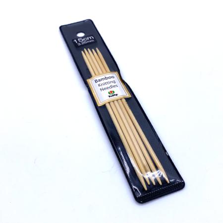 Бамбуковые чулочные спицы Tulip Bamboo, 15 см 3.25 мм