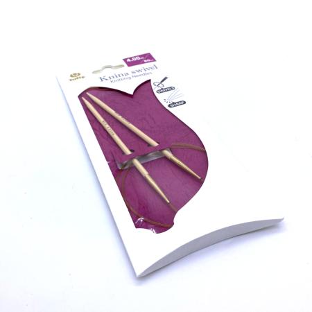 Круговые бамбуковые спицы Tulip Knina Swivel, 80 см 4 мм