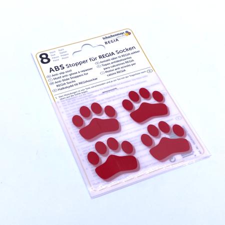 ABS противоскользящие наклейки для носков, красные