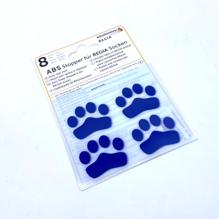 ABS противоскользящие наклейки для носков, синие