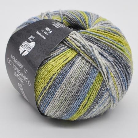 Пряжа для вязания и рукоделия Meilenweit 100 Cotton Bamboo Limon (Lana Grossa) цвет 2361, 420 м