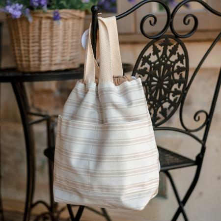 Проектная сумка для вязания, бежевая
