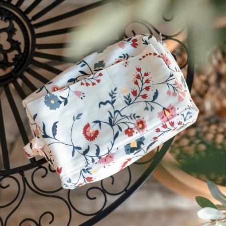 Проектная сумка small для вязания, цветы