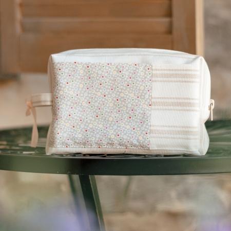 Проектная сумка small для вязания, бежевая