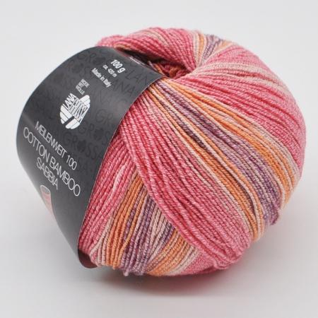 Пряжа для вязания и рукоделия Meilenweit 100 Cotton Bamboo Sabbia (Lana Grossa) цвет 2464, 420 м