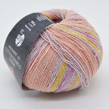 Пряжа для вязания и рукоделия Meilenweit 100 Cotton Bamboo Sabbia (Lana Grossa) цвет 2465, 420 м