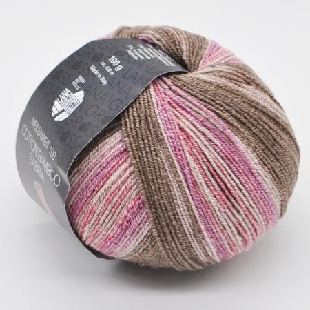 Пряжа для вязания и рукоделия Meilenweit 100 Cotton Bamboo Sabbia (Lana Grossa) цвет 2466, 420 м