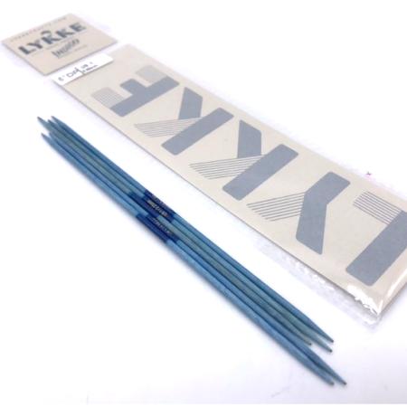 Спицы чулочные Lykke, цвет Indigo, 15см / 2.25 мм (Lykke)