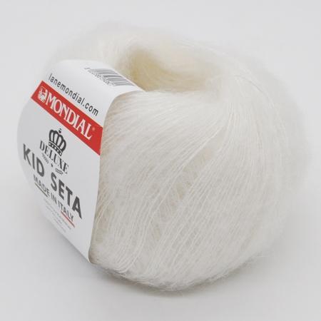Пряжа для вязания и рукоделия Kid Seta (Mondial) цвет 100, 210 м
