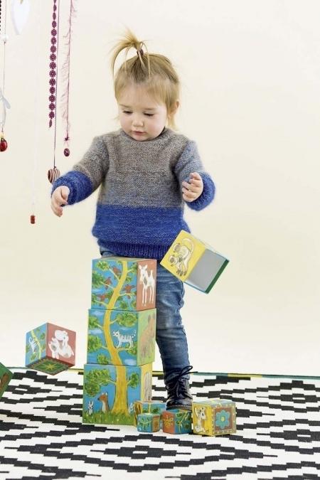 Детский свитер из пряжи Lang Yarns Mohair Luxe и Merino Lace 400