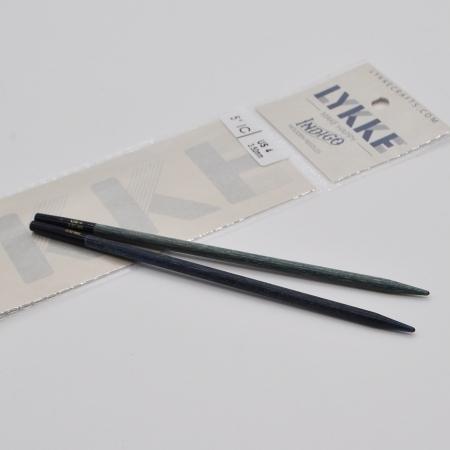 Спицы разъемные Lykke, цвет Indigo,11.5 см / 3.75 мм (Lykke)