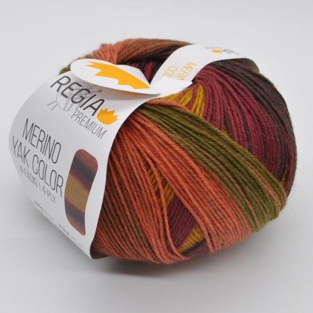 Пряжа для вязания и рукоделия Merino Yak Color (Regia) цвет 510, 400 м