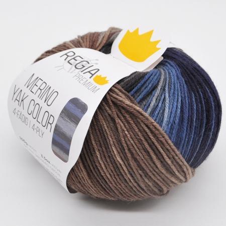 Пряжа для вязания и рукоделия Merino Yak Color (Regia) цвет 508, 400 м