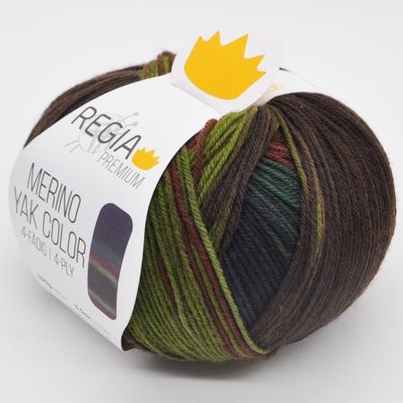 Пряжа для вязания и рукоделия Merino Yak Color (Regia) цвет 507, 400 м