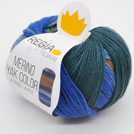 Пряжа для вязания и рукоделия Merino Yak Color (Regia) цвет 509, 400 м