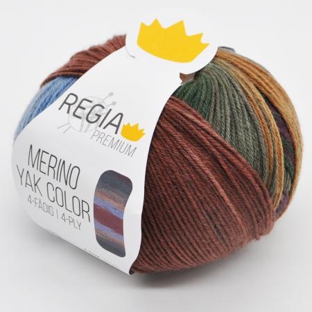 Пряжа для вязания и рукоделия Merino Yak Color (Regia) цвет 506, 400 м