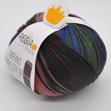Пряжа для вязания и рукоделия Merino Yak Color (Regia) цвет 505, 400 м