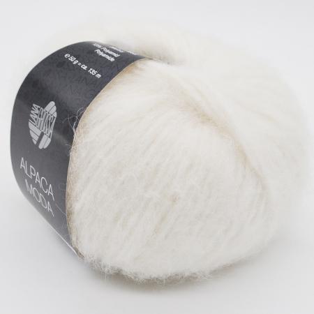 Пряжа для вязания и рукоделия Alpaca Moda (Lana Grossa) цвет 001, 135 м