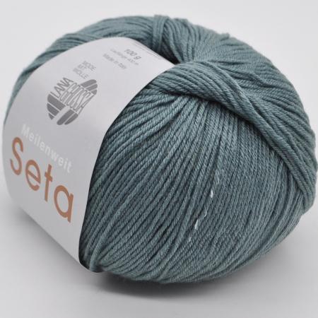 Пряжа для вязания и рукоделия Meilenweit 100 Seta (Lana Grossa) цвет 7, 400 м