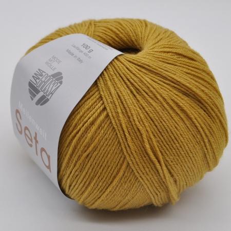 Пряжа для вязания и рукоделия Meilenweit 100 Seta (Lana Grossa) цвет 9, 400 м