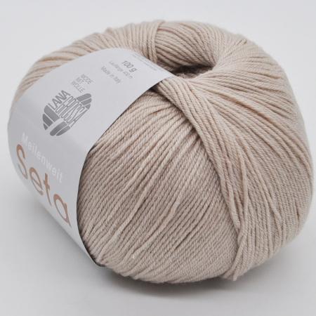 Пряжа для вязания и рукоделия Meilenweit 100 Seta (Lana Grossa) цвет 13, 400 м