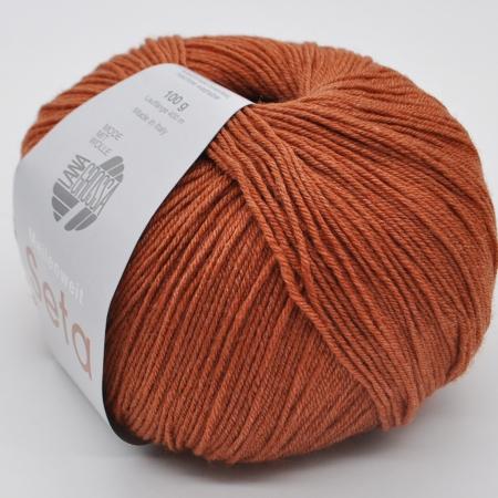 Пряжа для вязания и рукоделия Meilenweit 100 Seta (Lana Grossa) цвет 10, 400 м