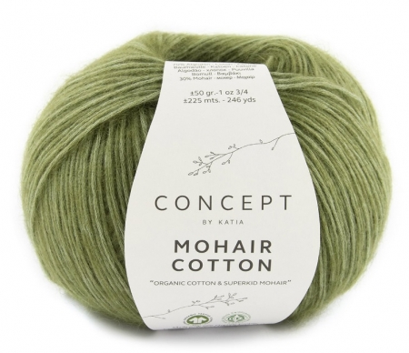 Пряжа для вязания и рукоделия Mohair Cotton (Katia) цвет 78, 225 м