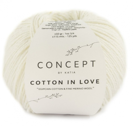 Пряжа для вязания и рукоделия Cotton in Love (Katia) цвет 50, 115 м