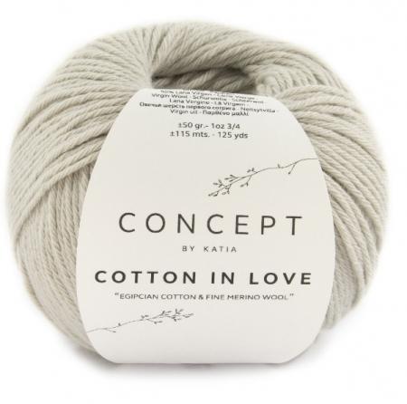 Пряжа для вязания и рукоделия Cotton in Love (Katia) цвет 51, 115 м