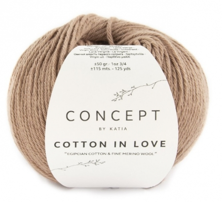 Пряжа для вязания и рукоделия Cotton in Love (Katia) цвет 56, 115 м