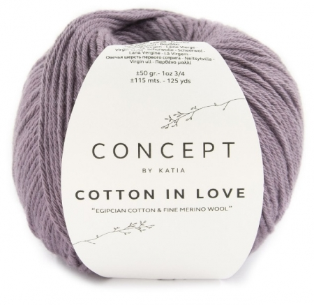 Пряжа для вязания и рукоделия Cotton in Love (Katia) цвет 54, 115 м